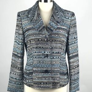 New Lafayette 148 Metallic Tweed Blazer